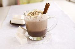 Hot chocolate with marshmallow royalty free stock images