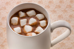 Hot chocolate marshmallow Royalty Free Stock Images