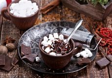Chocolate with marshmallow Royalty Free Stock Photography