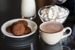 Hot chocolate with marshmallow Stock Image