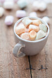 Hot chocolate and marshmallows Stock Photos