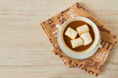 Hot chocolate with marshmallows Stock Photo
