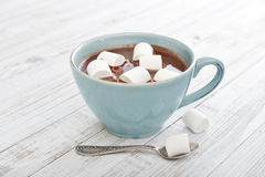 Hot chocolate and marshmallows Stock Images