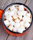 Hot Chocolate with Marshmallows Stock Image