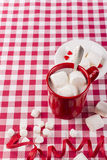 Hot chocolate and marshmallows Stock Photo
