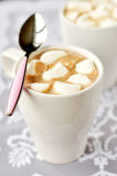 Hot Chocolate with Marshmallows, selective focus Royalty Free Stock Photo