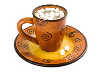 Hot Chocolate with marshmellows Royalty Free Stock Photo