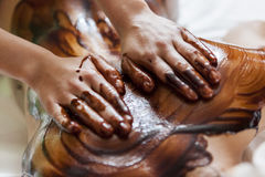 Hot chocolate massage Stock Photo