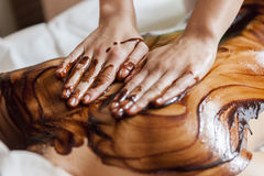 Hot chocolate massage Stock Photos