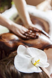 Hot chocolate massage Stock Photo
