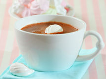 Hot chocolate and meringue Royalty Free Stock Images