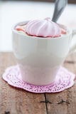Hot chocolate and meringue Royalty Free Stock Photos