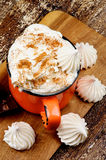 Hot Chocolate with Meringues Stock Photo