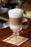 Hot chocolate with milk cream Royalty Free Stock Photos
