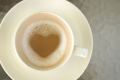 Hot chocolate milk, Love concept Royalty Free Stock Images