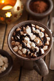 Hot chocolate with mini marshmallows warming drink royalty free stock images