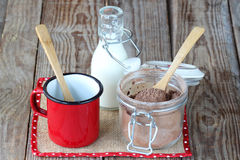 Hot chocolate mix Stock Image