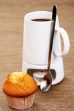 Hot chocolate and muffin Royalty Free Stock Image