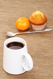 Hot chocolate and muffin Stock Photography