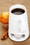 Hot chocolate and muffin Stock Image