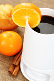 Hot chocolate and muffin Stock Images