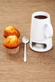 Hot chocolate and muffins Stock Image