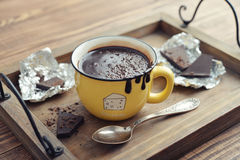 Hot chocolate in mug Stock Images
