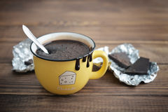 Hot chocolate in mug Stock Photography