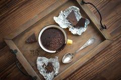 Hot chocolate in mug Royalty Free Stock Photos