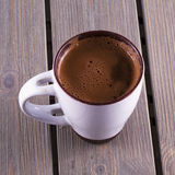 Hot chocolate over table Stock Image