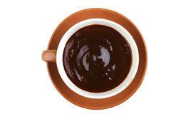 Hot chocolate over white Royalty Free Stock Photos