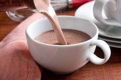 Hot Chocolate Pour stock photo