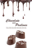 Hot chocolate pralines Stock Photo