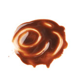 Hot chocolate's stain puddle isolated Royalty Free Stock Photo