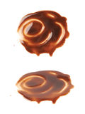 Hot chocolate's stain puddle isolated Stock Images
