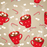 Hot chocolate seamless pattern royalty free illustration