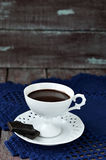 Hot chocolate. Selective focus. Royalty Free Stock Photo