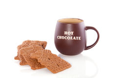 Hot chocolate with speculaas Stock Images