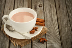 Hot chocolate with spices Stock Photo