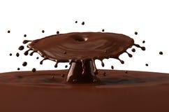 Hot chocolate splash Royalty Free Stock Image