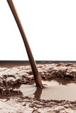Hot chocolate splash Royalty Free Stock Image