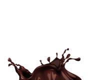 Hot chocolate splash. Close-up on white background Royalty Free Stock Photography