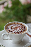 Hot chocolate. On the table Stock Photography