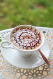 Hot chocolate. On the table Royalty Free Stock Images
