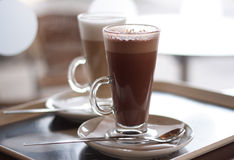 Hot chocolate in a tall class Stock Photography