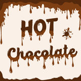 Hot chocolate template with melting effect Stock Photos