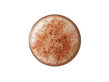 Hot chocolate. Top view. (with clipping path) Royalty Free Stock Photography