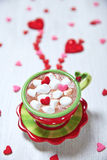 Hot chocolate for Valentine day Stock Image