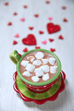 Hot chocolate for Valentine day Royalty Free Stock Image