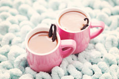 Hot chocolate with vanilla Royalty Free Stock Photos